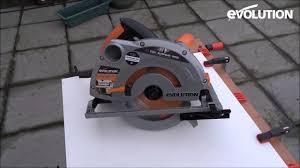 Cutting Laminate Flooring With Miter Saw Evolution Rage1 B 185mm Circular Saw Diy U0027er Cuts Laminated Mdf