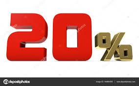 Promotion Color 20 Red Gold Percent Sign Number Percentage Symbol Market
