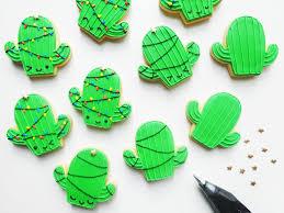 how to make christmas cactus cookies genius kitchen