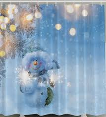 Snowflake Curtains Christmas Merry Christmas Shower Curtains Shower Curtains For All