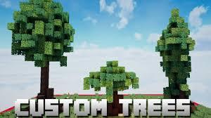 custom tree tutorial easy way to make custom trees minecraft