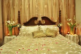 Romantic Bed Decoration For Wedding Night Beautiful Bridal Room Decor Furniture Home Improvement