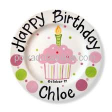 celebrate plate ceramic birthday plates cupcake cake personalized 1st