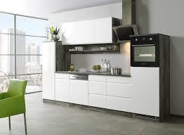küche günstig mit elektrogeräten küchenzeile 330 cm hochglanz weiß mit dessauer elektrogeräten