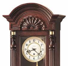 Wall Clock Howard Miller Key Wound Pendulum Wall Clocks Mahogany Finish 612221