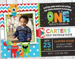 boys 1st birthday invitation monster 1st birthday invitation