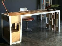 grand bureau en bois datelier clair bim a co