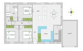 plan de maison plein pied gratuit 3 chambres plan maison 4 chambres plain pied gratuit modle de plan de maison