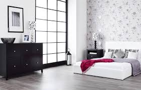 bedroom compelling white bedroom with floral wallpaper and white