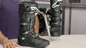 alpinestars tech 7 motocross boots alpinestars tech 5 boots review at revzilla com youtube