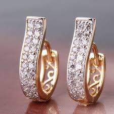 trendy gold earrings e105d fashion 18k gold platinum trendy hoop earrings