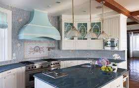 The Coastal Kitchen - coastal kitchen backsplash in the chef kitchen 50392 house