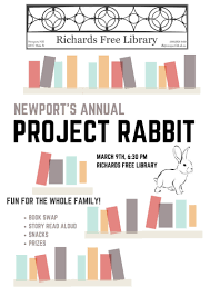 rabbit library hop on to the library for project rabbit richards free library