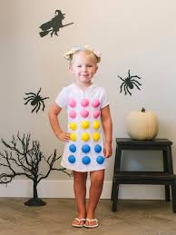 diy dots candy halloween costume for kids hgtv