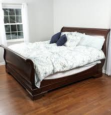 Cherry Wood Sleigh Bed Restoration Hardware
