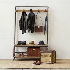 american vintage coat rack clothing rack changing his shoes stool