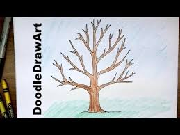 For A Tree How To Draw A Tree Without Leaves Easy Drawing Tutorial For