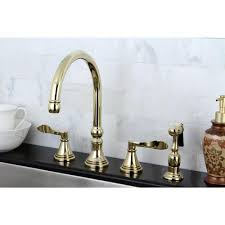 Overstock Kitchen Faucet by Brass Kitchen Faucet An Antique Brass Vintage Faucet Is Paired