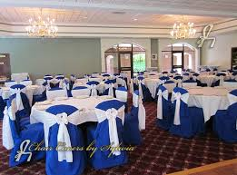 royal blue chair covers chicago chair covers for rental in royal blue in the polyester fabric