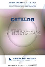 cover catalog womens clothing cosmetics perfume stock vector