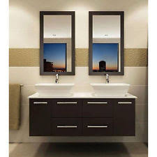 Double Vanity Cabinet Modern Bathroom Double Vanity Ebay