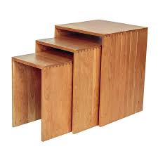 Nesting Desk Shaker Style Nesting Tables High End Natural Solid Wood