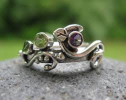 2 mothers ring unique mothers ring sterling 2 birthstones garden
