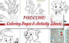 pinocchio coloring pages activity sheets free printables