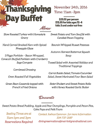 thanksgiving day buffet at the marriott