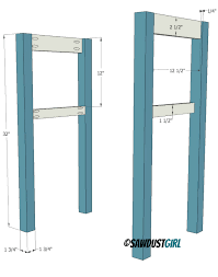 Diy Console Table Plans Two Toned Diy Console Table Sawdust Girl