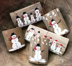 how to make your own reclaimed wood snowman tree ornament www