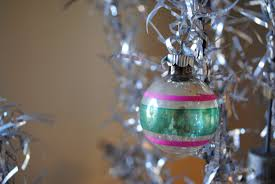 a perfect gray vintage christmas ornaments