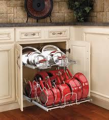 kitchen storage cabinets lowes kitchens 12 storage solutions cookware organizer
