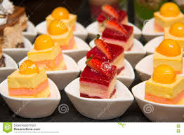 appetizers mini desserts on catering buffet stock photo image