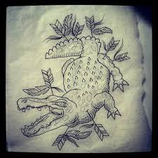 crocodile sketch best tattoo design ideas