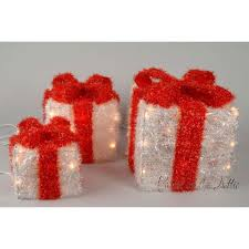 pre lit christmas gift boxes christmas pre lit sisal gift boxes with warm white lights and ribbon