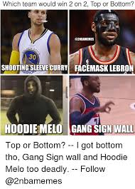 Melo Memes - which team would win 2 on 2 top or bottom 30 shooting sleeve curry
