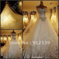 newest luxury bride dress sweetheart swarovski crystals applique