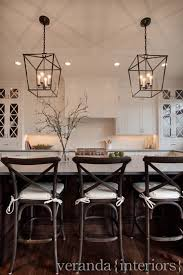 wood countertops chandelier over kitchen island lighting flooring