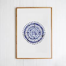 Moroccan Pattern Art Moroccan Wall by Moroccan Blue Abstract Art Navy Blue Art Blue Print