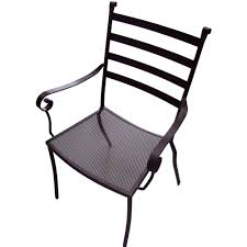 Black Metal Patio Chairs Terrace Outdoor Dining Chair Bar Restaurant Furniture Tables