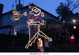 Christmas Decorations For Outside Uk by House Christmas Lights Outside Uk Stock Photos U0026 House Christmas