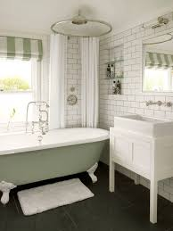 architecture white bath curtain with black stone floor and glass