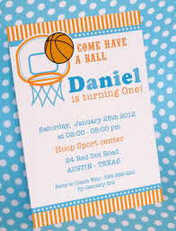 Printable Party Invitation Cards Diy Printable Invitation Card Basketball Birthday Party