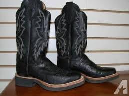 justin s boots sale s 6 1 2 justin tekno crepe square toe boots in black