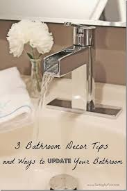 How To Decorate Your Bathroom Like A Spa - 3 bathroom decor tips and ways to update your bathroom setting