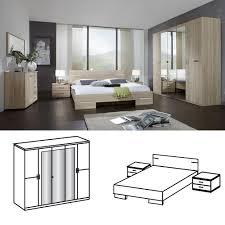 wimex schlafzimmer set anna bett 180x200 mit 5trg kleiderschrank