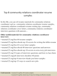 Public Relations Resume Examples by Community Relations Resume Free Resume Example And Writing Download