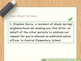 how to write a letter to the mayor of your city with sample letters
