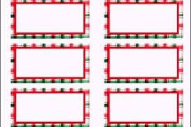 free christmas address labels templates templatezet